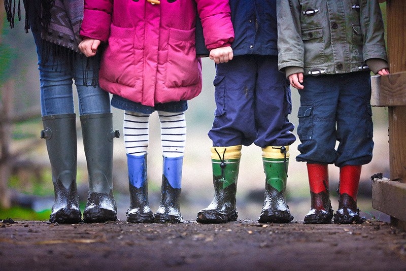 Kids in wellies