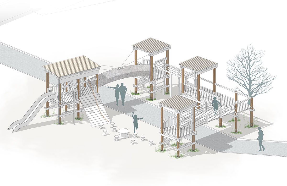 Model of play area
